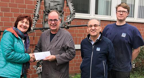 Ein riesiges Dankeschön – KSM Azubis spenden an FiN – Familien in Not
