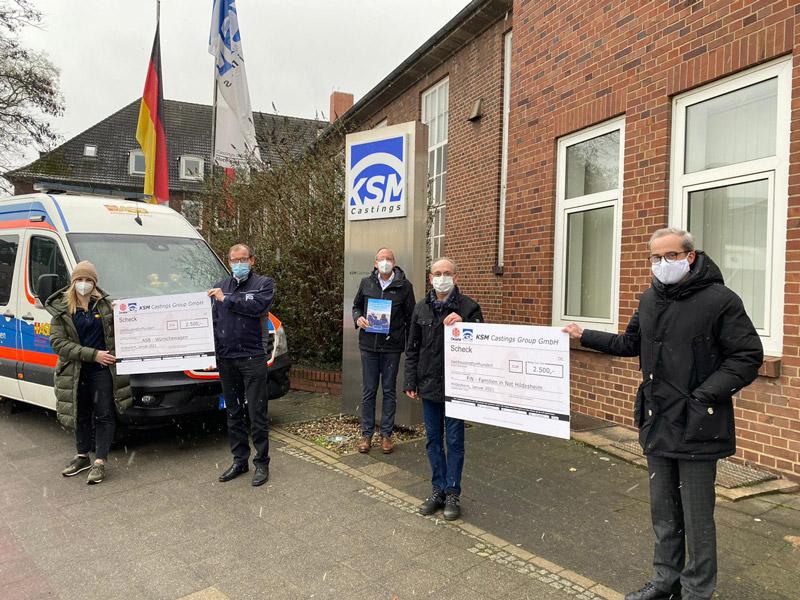 KSM spendet an FiN – Familien in Not und den ASB Wünschewagen